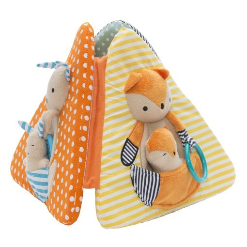 Teach your baby dexterity by giving him more time on his tummy with this multifaceted toy.