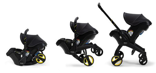 The Doona Car Seat Folds from a Car Seat into a Stroller