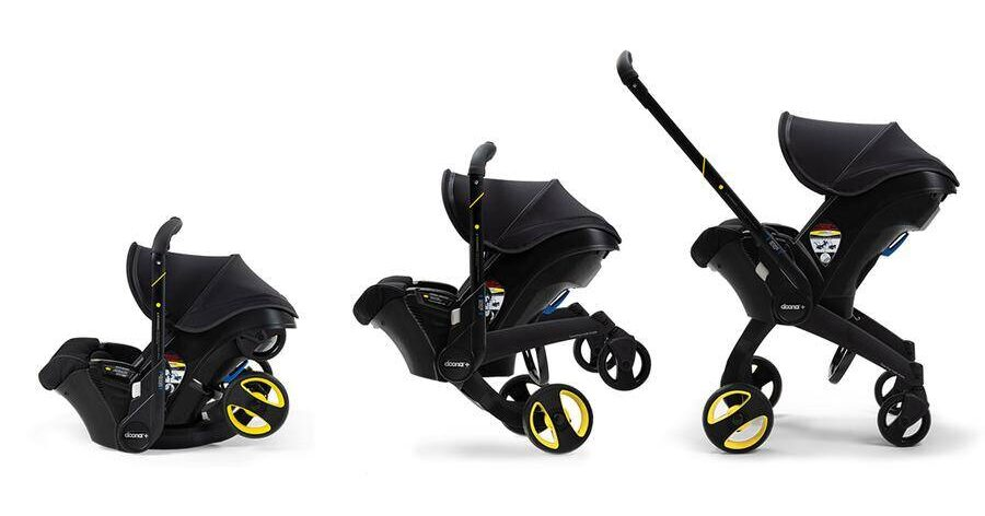 Midnight Car Seat and Stroller All-In-One Doona