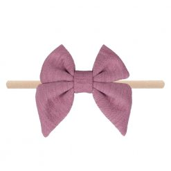 Emerson and Friends Mauve Jersey Bow Baby Headband