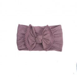 Emerson and Friends Mauve Pom Bow Baby Headband