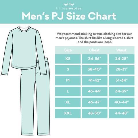 Little Sleepies Men's PJ Size Chart