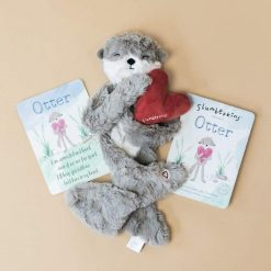 Slumberkins Otter with Otter Board Book and Otter Affirmation Card