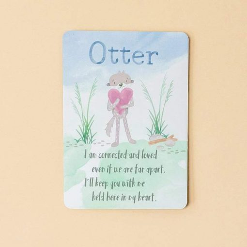 Slumberkins Otter Afirmations Card