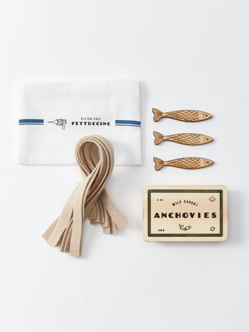 Fun food play time anchovies