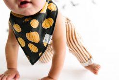 Fall Baby Bandana Bib with Pumpkin Pattern