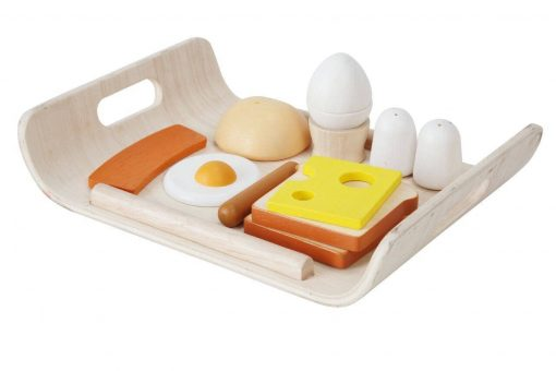 Plan Toys Breakfast Food Tray Role Play Wooden Toy
