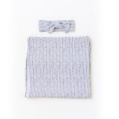 Bamboo Swaddle and Hat in Polka Dot by Little Sleepies