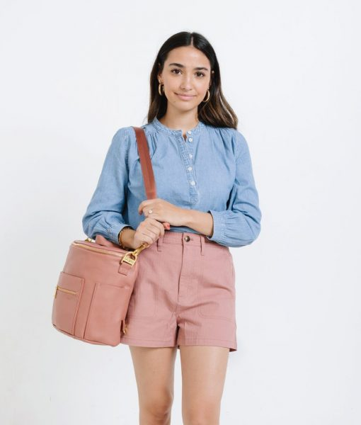 Dusty Rose Fawn Mini Diaper Bag
