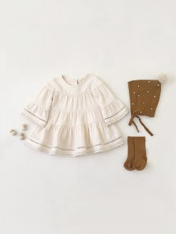 Off-White Baby Dress by Quincy Mae