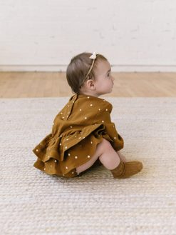 Baby Romper by Quincy Mae in Brown