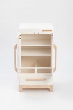 Solid Wood Pretend Kitchen Refrigerator