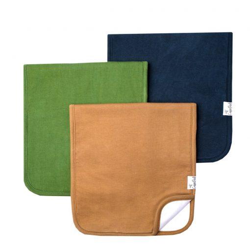 Copper Pearl Ridge Burp Cloth Set 3-Pack