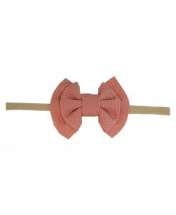 Emerson and Friends Rose Waffle Bow Headband