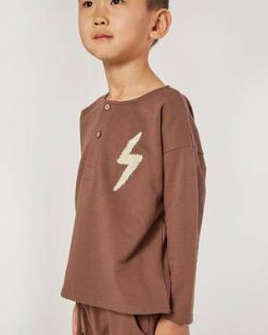 Rust Sweathshirt by Rylee & Cru with Bolt