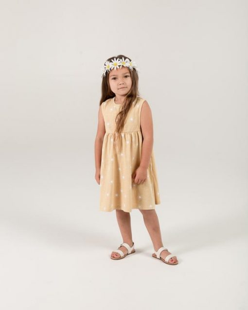 Yellow Sundress for Baby and Toddlers with Sun Pattern