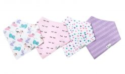 Copper Pearl Sassy Baby Bandana Bib Set 4-Pack