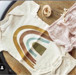 Earth tone gender neutral onesie sizes 0-12 months