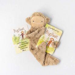 Bigfoot in Sunkissed Self-Esteem Snuggler Lovey and Book Bundle
