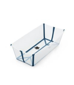 Stokke Flexi Bath XL Transparent Blue Foldable Baby Bath Tub