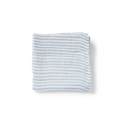 Pehr Organic Cotton Muslin Count-the-Ways Cloth in Stripes Away Sea