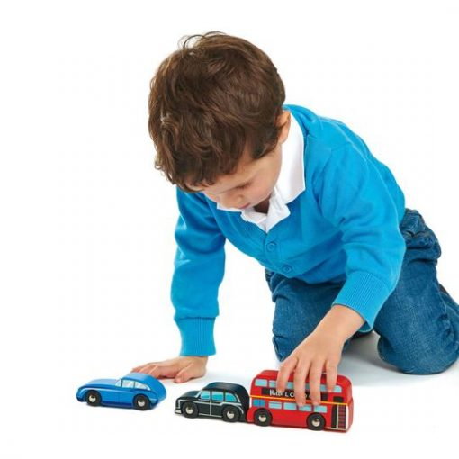 Wood London Car Set