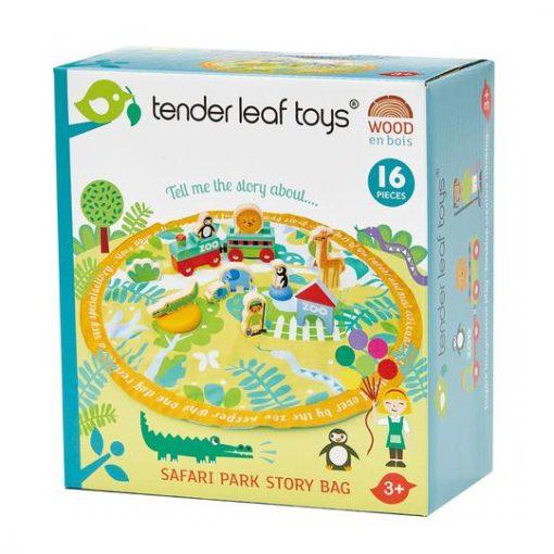 Safari Animal Wooden Toys with Playmat 2