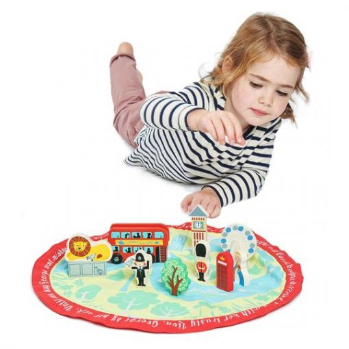 London Mat and Wooden Toys from Tenderleaf Toys