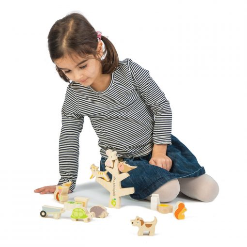 Playtime with Tender Leaf Toys Stacking Animals