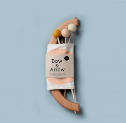 Tangerine Studio Bow and Arrow Set Peach Wooden Childrens Toy