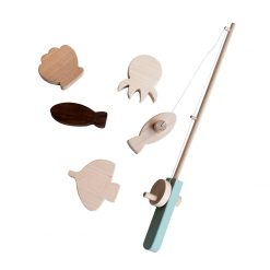 Tangerine Studio Magnetic Fishing Set Wooden Childrens Toy
