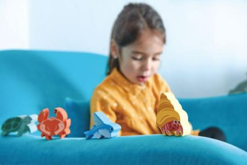 Playtime with Wooden Animal Sea Creatures