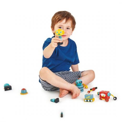 Playtime with Tender Leaf Toys Robot Construction