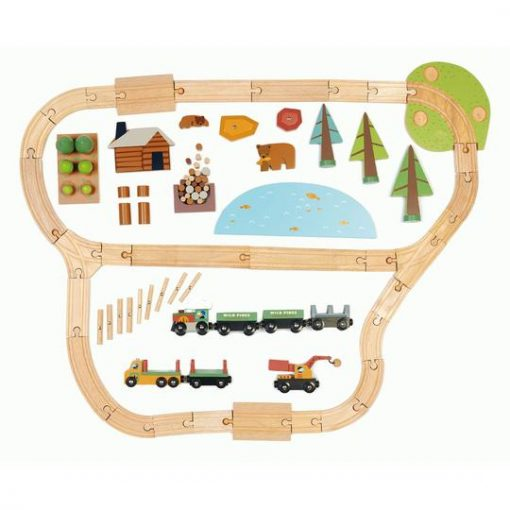 What is Included Pines Tender Leaf Toys Train Set