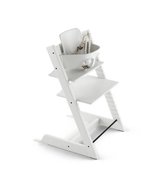 Stokke Tripp Trapp High Chair with Baby Set - White