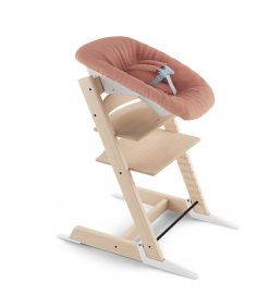 Stokke Tripp Trapp High Chair with Newborn Set -Natural / Coral Confetti