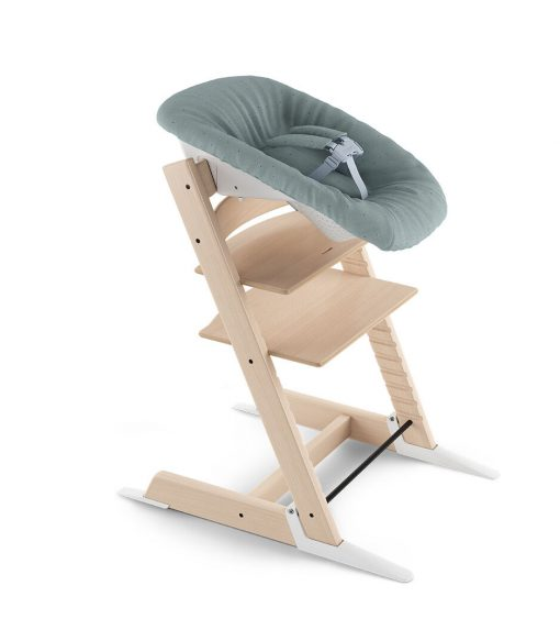 Stokke Tripp Trapp High Chair with Newborn Set -Natural / Jade Confetti