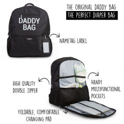 Childhome Daddy Bag Print Diaper Backpack 2