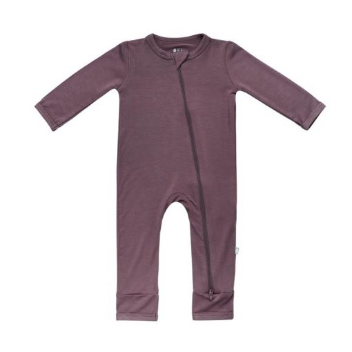 Kyte BABY Zippered Romper in Cocoa