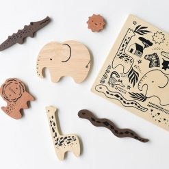 Safari Animals Wooden Tray Puzzle by Wee Gallery