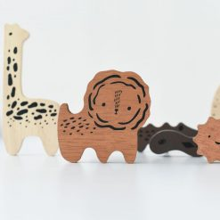 Wooden Safari Animals Tray Puzzle by Wee Gallery