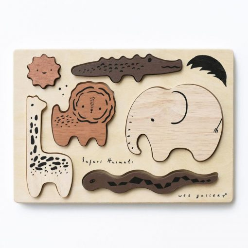 Wee Gallery Safari Animals Wooden Tray Puzzle
