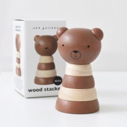 Wee Gallery Brown Stacker Bear Toy