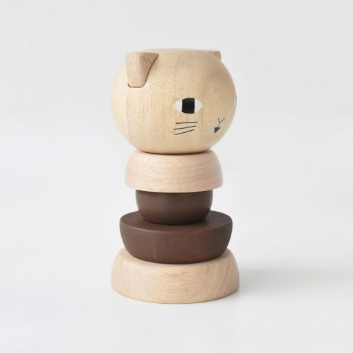 Wood Stacker Cat by Wee Gallery