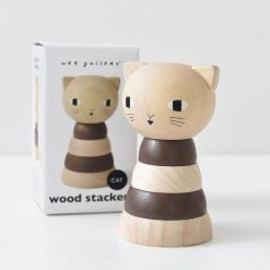 Wee Gallery Brown Stacker Cat Toy