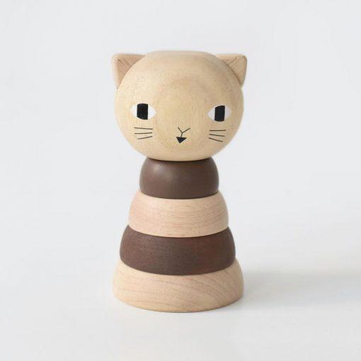 Wee Gallery Wood Stacker Cat