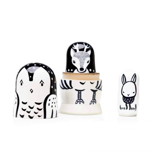 Woodland Creature Nesting Dolls by Wee Gallery