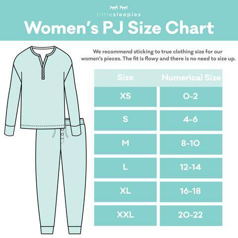 Little Sleepies Women's Pajama Size Chart
