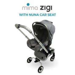 Mima Zigi Stroller can be used with the Nuna Pipa car seat with the Zigi Car Seat Adapter