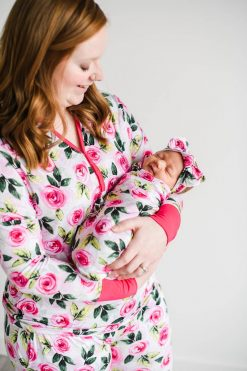 Matching Roses Mama Pajama Top from Little Sleepies